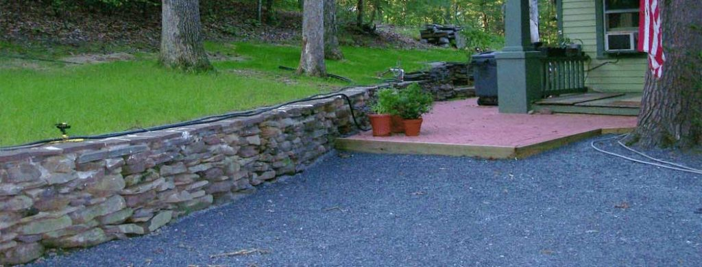 Landscaped Rock Wall